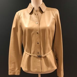 Soft lambs leather coat. Exc. Cond. size Medium
